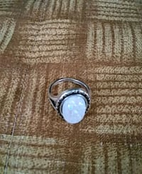 Sterling Silver ring with oblong stone Raleigh, 27603