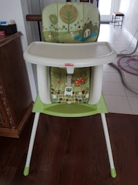 baby's white and green high chair TORONTO