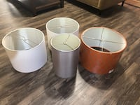 Lampshades, for lamps, four, decorator, linen, assorted, drum style, new Imperial Beach, 91932
