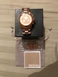 Michael kors chronograph runway oversized rose gold watch 44mm $175 firm  retails for $275 also have in gold and silver tone