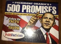 2009 President Obama's 500 Promises Card Deck  - NEW - Game Huntington Beach, 92648