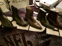 All 5 new pair of black leather boots for $250 San Diego, 92154