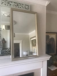 Large Solid Wood Champagne Gold Beveled Wall Mirror San Francisco, 94112