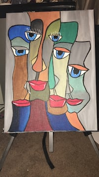 four person abstract painting Tulare, 93274