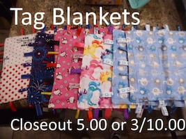 Tag blankets for baby & kids to carry around