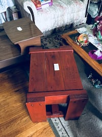 brown wooden center table solid wood Hobart