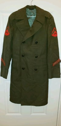 MARINES Vintage Issue OD Wool Overcoat  Cumberland, 02864