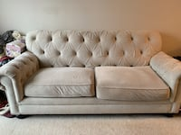 Tufted Tan 2-seat sofa, pick up only Silver Spring, 20910