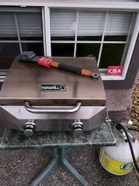 BBQ grill, tank, table and new brush