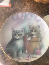 two brown and white kittens print ceramic decorative plate Springfield, 22151
