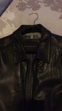 Two black leather XL men's coats . One is from the GAP the other is Andrew Marc  Baltimore, 21220