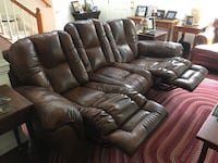 3 Seat Leather Sofa Recliner Rockville, 20850