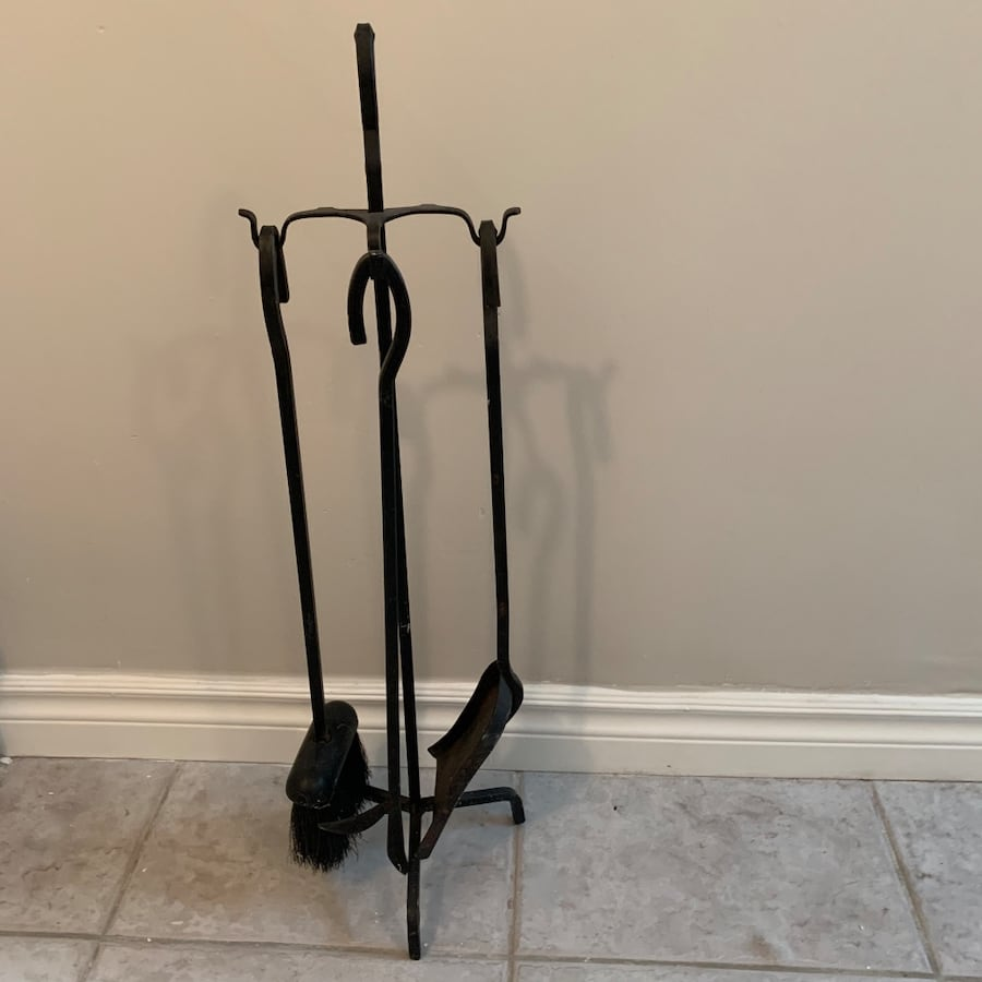 Iron Fireplace Tool Set