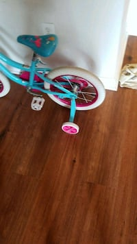 blue and pink bicycle with training wheels Bowie, 20716