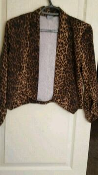 women's brown and black leopard print cardigan Calgary, T2A 0J3