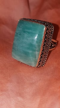 Handmade amazonite ring  Yuma