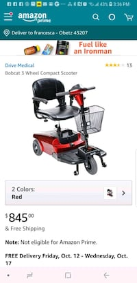 Awesome quick motor scooter $450 FIRM WILL DELIVER Franklin County, 43207