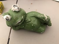 green and white ceramic frog figurine The Plains, 20137