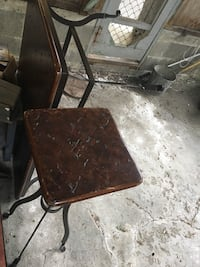 High corner end table with wrought iron legs Vancouver, V5V 2H6