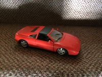 Red and black coupe die-cast