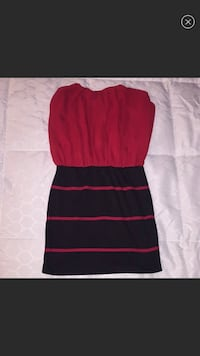 Strapless dress red and black size small Linganore, 21774