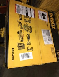 DEWALT 20-Volt MAX Lithium-Ion Cordless Combo Kit (9-Tool) with (2) Batteries 2Ah, Charger and (2) Contractor Bags Garden Grove, 92843
