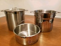 All-Clad 12 qt multi-cooker with 2 steamer baskets 168 mi
