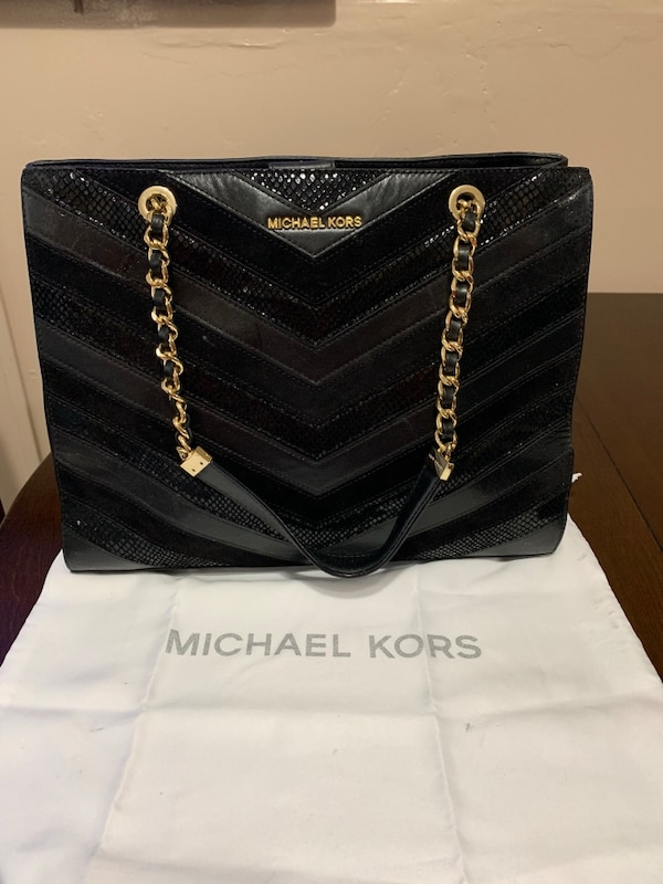 b5f1e7116151 Used black leather Michael Kors tote bag for sale in Paterson - letgo