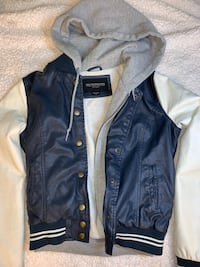 Obey Hooded Leather Varsity Jacket (women's small) Chino Hills, 91709