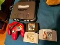 black Nintendo 64 console with controller and game cartridges Milwaukee, 53204