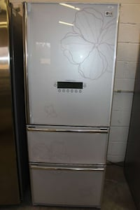 white Lg bottom mount refrigerator Woodbridge, 22191