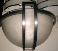 Halfmoon Wall Sconce with Frosted Shade and Brushed Nickel Finish Phoenix, 85023