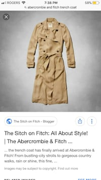 Abercrombie and Fitch trench coat Brampton, L6S 2J1