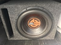 Black and red quantum 3000 watt 12 subwoofer speaker and box no amp Greensboro, 27405