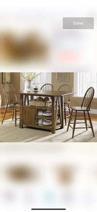 brown wooden table and chair set Hallandale Beach, 33009