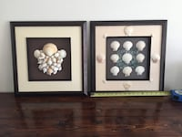 2 sea shell and beach glass wall decor  Gainesville, 20155
