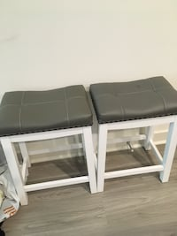 Two white wood stools Rockville, 20850