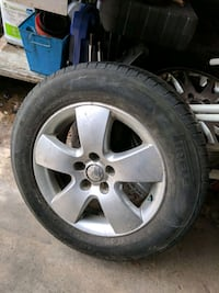 gray 5-spoke car wheel with tire Mississauga, L4W 2X1