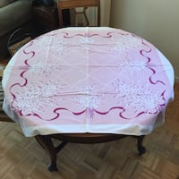 Vintage 1950's Table Cloth Markham, L3T