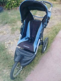 baby's black and blue jogging stroller Los Angeles, 91306