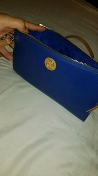 blue leather Michael Kors wristlet Tysons