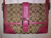 Coach hot pink and tan crossbody purse Henderson, 89074