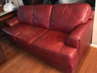 Leather, 3-Seat sofa, Red, excellent condition, smoke free home! Fayetteville, 28314