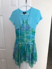 women's teal and white dress Fayetteville