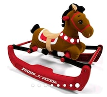 New Radio Flyer, Soft Rock & Bounce Pony with Sounds, Rocking Horse