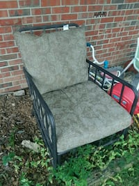 black and gray metal armchair Jefferson City, 65109