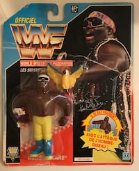 WWF Hasbro 1990s koko b ware French card figure new in package rare Medford, 02155