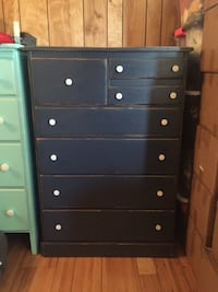 Dark Blue Dresser - Vintage Style Washington