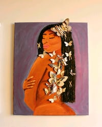 Butterfly Black African Woman Painting Mississauga, L5M 3R9