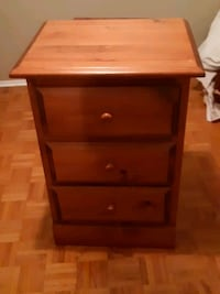 Three drawer 31 and 1/2 in high 18 by 22